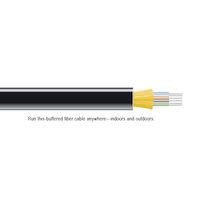 OM1 62.5-Micron Multimode Fiber Optic Bulk Cable - Indoor/Outdoor, Distribution-Style, OFNP Plenum
