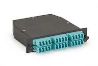Fiber Optic MTP LGX Cassette OM3 2 MTP12/24 LC Type-A