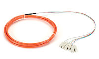 OM1 62.5-Micron Multimode Fiber Optic Pigtail - 6-Strand, OFNR, PVC, SC, Orange, 3-m (9.6-ft.)