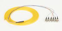 OS2 9-Micron Single-Mode Fiber Optic Pigtail - 6-Strand, OFNR, PVC, ST, Yellow, 3-m (9.6-ft.)