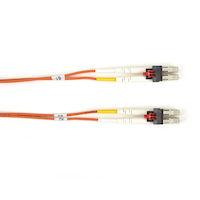 LockPORT OM1 62.5-Micron Multimode Fiber Optic Patch Cable - Duplex, PVC, Key Locking