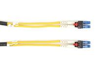 LockPORT OS2 9-Micron Singlemode Fiber Optic Patch Cable - Duplex, PVC, Key Locking