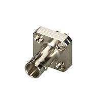 Fiber Optic Adapter ST/FC Multimode Simplex Bronze Square