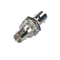 Fiber Optic Coupling - ST/ST Multimode Simplex Bronze Round