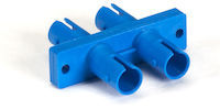 Fiber Optic Coupling - ST/ST Singlemode Duplex Ceramic Rect