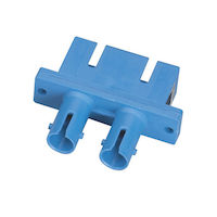 Fiber Optic Adapter - ST-SC, Single-Mode, Duplex, Ceramic Sleeve, Rectangular Mounting