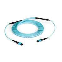 Fiber Optic MTP Trunk Cable OM3 12-Fiber Type-C Plenum 15M