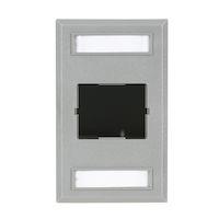 Wallplate Single-Gang 1-Slot Gray