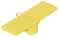 "Cable ID Tags - 5/8""W x 2""L, 100-Pack, Yellow"