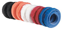 "Hook and Loop Cable Wrap - 1/2"" x 8"", Rainbow, 100-Pack"