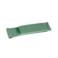 "Hook and Loop Cable Hanger - 1"" x 2.5"", Green, 10-Pack"