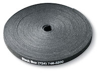 "Hook and Loop Cable Wrap - 5/8"" x 75', Black, 75-ft. Roll"