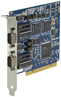 PCI Bus Serial Board - (2) RS232/422/485, (2) DB9