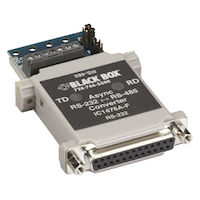 Async RS232 to RS485 Interface Converter - DB25 to Terminal Block