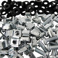 Cage Nuts, Washers and Screws - 6mm, 100-Pack