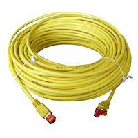 Cable de enlace extensor KVM sólido CAT5e de 200 MHz: blindado, LSZH