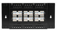 Cat6 Wallmount Patch Panel 24-Port With Cover