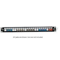 GigaStation HD Multimedia Patch Panel - 1U, 24-Port