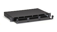 Rackmount Fiber Enclosure 1U Non-Locking 3 Slot Adapter