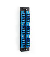 Fiber Adapter Panel - High Density, (12) LC Duplex, Ceramic, Blue