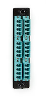 Fiber Adapter Panel - High Density, (12) LC Duplex, Ceramic, Aqua