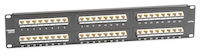 Cat5E Unshielded Angled-Port Patch Panel 48-Port (Up) 1U