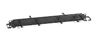 "Horizontal Rackmount IT Cable Manager - 1U, 19"", Double-Sided, Black"