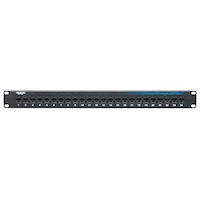 Cat5E Unshielded Feed-Through Patch Panel 24-Port 1U