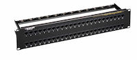 CAT6 Patch Panel - Feed-Through, 1U, Unshielded, 48-Port
