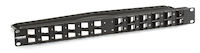 Multimedia Angled Port Patch Panel - 1U, 24-Port
