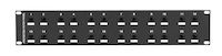 CAT6 Surge-Protected Patch Panel - 2U, 24-Port