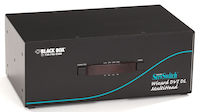 Wizard Desktop KVM Switch - Dual Head, DVI-D Dual-Link, USB 2.0 True Emulation, 4-Port