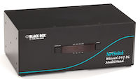 Wizard KVM Switch - Tri-Head, DVI-D Dual-Link, USB True Emulation, Audio, 4-Port