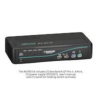 DT PRO II Desktop KVM Switch - VGA, USB or PS/2, Audio, 4-Port