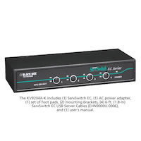 EC Series KVM Switch for PS/2 and USB Servers and PS/2 or USB Consoles, 4-Port