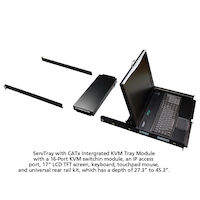 "ServTray 17"" LCD Console Drawer with 16-Port CATx KVM Switch"