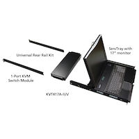 "ServTray 17"" LCD Console Drawer with IP Gateway KVM Switch"