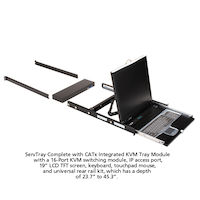 "19"" LCD Console Drawer with 16-Port CATx KVM Switch"