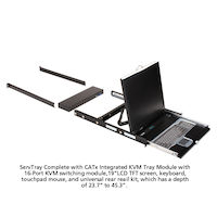 "ServTray 19"" LCD Console Drawer with 16-Port CATx KVM Switch"