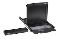 "ServTray 19"" LCD Console Drawer with 1-Port KVM Switch"