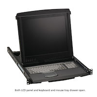 "17"" LCD Console Drawer with 8-Port CATx KVM Switch"
