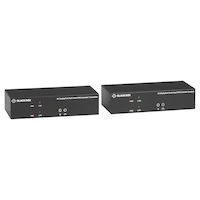 KVX Series KVM Extender over CATx – 4K, Dual-Head, DisplayPort, USB 2.0, Serial, Audio, Local Video