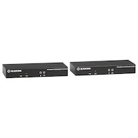KVX Series KVM Extender over Fiber - 4K, Single-Head, DisplayPort, USB 2.0 Hub, Serial, Audio, Local Video