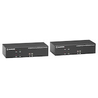 KVX Series KVM Extender over Fiber – 4K, Dual-Head, HDMI/DisplayPort, USB 2.0, Serial, Audio, Local Video