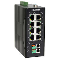10BASE-T/100BASE-TX Hardened Ethernet Extender Switch, 8-Port