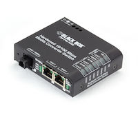 Hardened Media Converter Switch - 10/-100-Mbps Copper to 100-Mbps Fiber, 100–240-VAC with IEC, MT-RJ