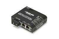 Hardened Media Converter Switch - 10/100-Mbps Copper to 100-Mbps Fiber, Multimode, 100–240-VAC with IEC, SC