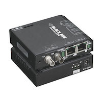 Extreme Media Converter Switch - 10/100-Mbps Copper to 100-Mbps Fiber, Multimode, 100–240-VAC with IEC, ST