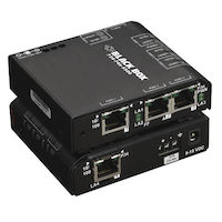 Industrial 10Base-T/100Base-TX PoE Ethernet Switch - Hardened Temperature, 4-Port