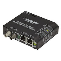 LBH110 Series Ethernet (10-Mbps) Extreme Temperature Switch - (2) 10/100-Mbps Copper RJ45, (1) 10-Mbps Multimode Fiber, 850nm, 2km, ST